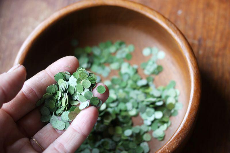 Leaf-confetti